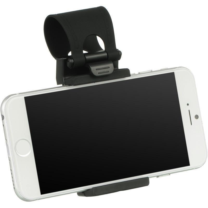 DW Universal Car Mount Holster on Steering Wheel - Black - MyPhoneCase.com