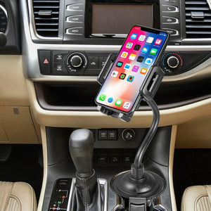 Luxmo Cup Holder Car Mount Long Adjustable Arm Rotatable Cradle - MyPhoneCase.com