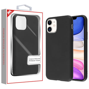Liquid Silicone Protector iPhone 11 Case - Black - MyPhoneCase.com