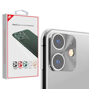 MYBAT Metal Camera Lens Protector for iPhone 11 - Silver - MyPhoneCase.com