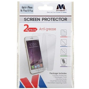 MYBAT Screen Protector for iPhone 6/6S Plus - Anti-grease (2-pack) - MyPhoneCase.com