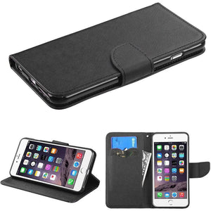 Book-Style Fancy Wallet iPhone 6/6s Plus Case - Black/Black Liner - MyPhoneCase.com