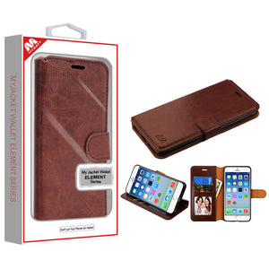 MYBAT Flip Stand Leather iPhone 6/6S Wallet Case - Brown - MyPhoneCase.com