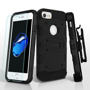 "Storm Tank 3-in-1 iPhone 7 / iPhone 8 (4.7"") Case Combo - Black/Black - MyPhoneCase.com"