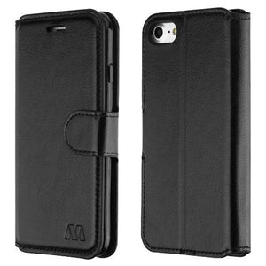 "Flip Stand Leather Wallet iPhone 7 / iPhone 8 (4.7"") Case - Black"