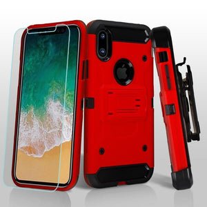 3-in-1 Kinetic Holster iPhone X / Xs Case Combo - Red - MyPhoneCase.com