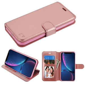 "Book-style Leather iPhone Xr (6.1"") Wallet Case - Rose Gold - MyPhoneCase.com"