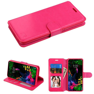 MyJacket Element Series LG G8 ThinQ Wallet Case - Hot Pink - MyPhoneCase.com