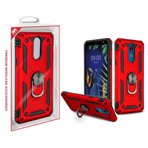 Anti-Drop Ring Stand Hybrid LG K40 Case - Red - MyPhoneCase.com
