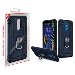 Anti-Drop Ring Stand Hybrid LG K40 Case - Ink Blue - MyPhoneCase.com