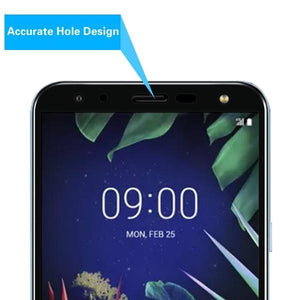 Screen Protector for LG K40 - Full Coverage Tempered Glass (Black) - MyPhoneCase.com