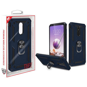 Anti-Drop Ring Stand Armor LG Stylo 5 Case - Ink Blue - MyPhoneCase.com