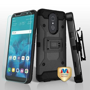 Kinetic Total Defender LG Stylo 4 / Stylo 4+ Plus Case Combo - Black - MyPhoneCase.com