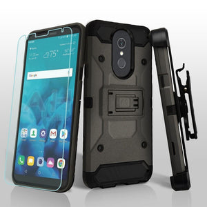 Kinetic Total Defender LG Stylo 4 / Stylo 4+ Plus Case Combo - Gunmetal - MyPhoneCase.com