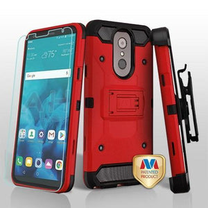 Kinetic Total Defender LG Stylo 4 / Stylo 4+ Plus Case Combo - Red - MyPhoneCase.com