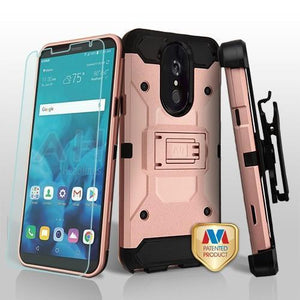 Kinetic Total Defender LG Stylo 4 / Stylo 4+ Plus Case Combo - Rose Gold - MyPhoneCase.com