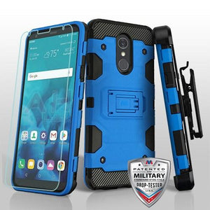 Storm Tank LG Stylo 4 / Stylo 4+ Plus Case Holster Combo - Blue/Black - MyPhoneCase.com