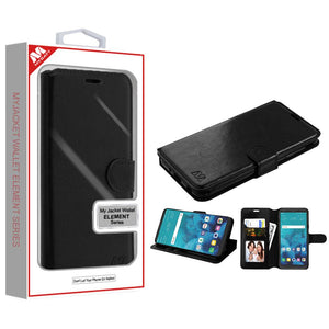 MyJacket Element Series LG Stylo 4 / Stylo 4+ Wallet Case - Black - MyPhoneCase.com