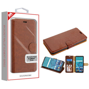 MyJacket Element Series LG Stylo 4 / Stylo 4+ Wallet Case - Brown - MyPhoneCase.com
