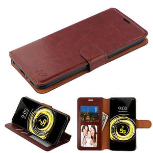 MyJacket Wallet Element Series LG V50 ThinQ Case - Brown - MyPhoneCase.com