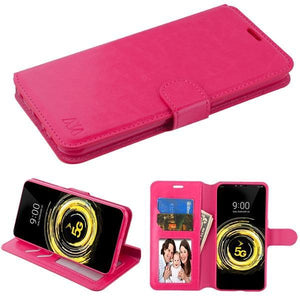 MyJacket Wallet Element Series LG V50 ThinQ Case - Hot Pink - MyPhoneCase.com