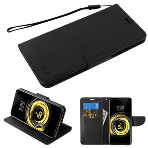 MyJacket Fancy Wallet Series LG V50 ThinQ Case - Black/Black - MyPhoneCase.com