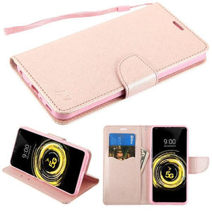 MyJacket Fancy Wallet Series LG V50 ThinQ Case - Rose Gold/Rose Gold - MyPhoneCase.com