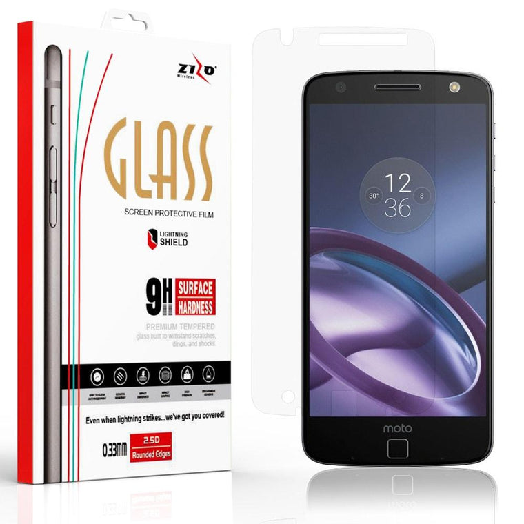 ZIZO Screen Protector for Moto Z Force Droid Case - Tempered Glass | MyPhoneCase.com
