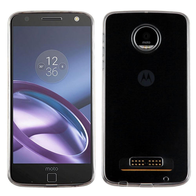 MYBAT Glossy Transparent Candy Skin Moto Z Play Case - Clear - MyPhoneCase.com - 1