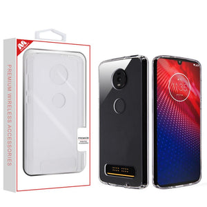 Sturdy Gummy Cover Motorola moto z4 Case - Highly Transparent Clear