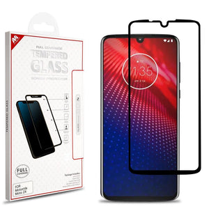 MYBAT Tempered Glass Screen Protector Motorola moto z4 - Full Coverage