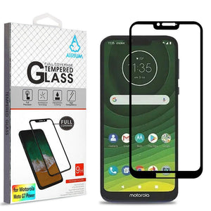Full Coverage Screen Protector Motorola Moto G7 Power / Supra Tempered Glass - MyPhoneCase.com