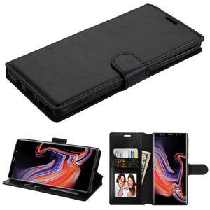 MyJacket Flip Stand Leather Wallet Galaxy Note 9 Case - Black - MyPhoneCase.com