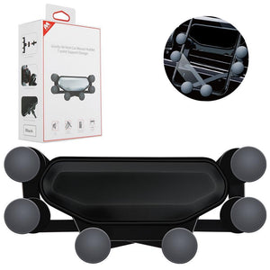 Gravity Air Vent Car Mount Phone Holder 7-Point Support Design - Black - MyPhoneCase.com