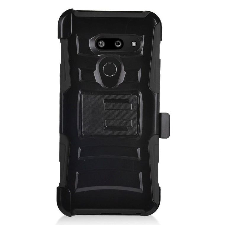 Advanced Armor Holster LG G8 ThinQ Case - Black - MPC - MyPhoneCase.com