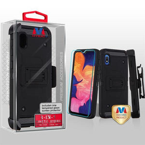 Kinetic Hybrid 3-in-1 Galaxy A10e Case Holster - Black/Black - MyPhoneCase.com