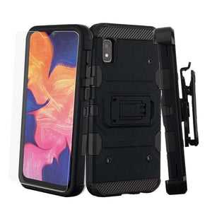 3-in-1 Military Grade Certified Storm Tank Galaxy A10e Case Holster - Black - MyPhoneCase.com