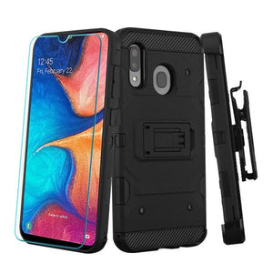 Storm Tank Galaxy A20 (2019) Case Holster - Black/Black - MyPhoneCase.com