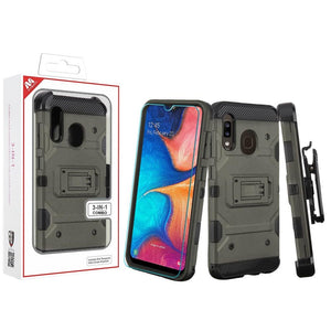 Storm Tank Galaxy A20 (2019) Case Holster - Gunmetal Gray - MyPhoneCase.com