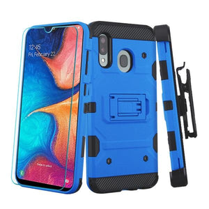 Storm Tank Galaxy A20 (2019) Case Holster - Blue/Black - MyPhoneCase.com