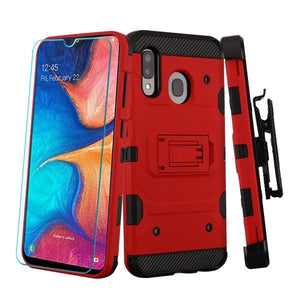 Storm Tank Galaxy A20 (2019) Case Holster - Red/Black - MyPhoneCase.com