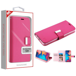 MyJacket Xtra Wallet Galaxy A20 (2019) Case - Hot Pink/Pink - MyPhoneCase.com