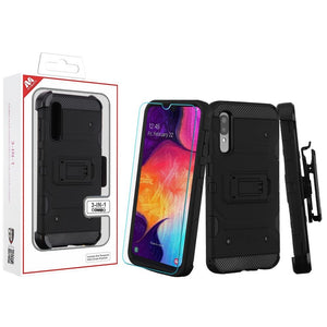 Military Grade Certified Storm Tank Galaxy A50 (2019) Case - Black - MyPhoneCase.com
