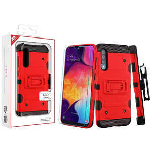 Storm Tank Galaxy A50 (2019) Case Holster - Red - MyPhoneCase.com