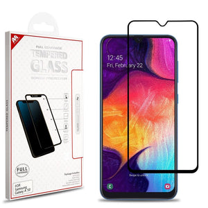 Tempered Glass Screen Protector for Galaxy A50 (2019) - Full Coverage (Black) - MyPhoneCase.com