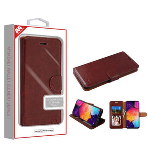 MyJacket Element Series Galaxy A50 (2019) Wallet Case - Brown - MyPhoneCase.com