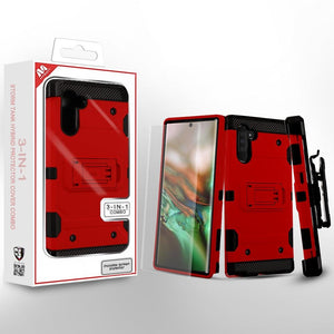 Storm Tank Hybrid Galaxy Note 10 Case Holster Combo - Red - MyPhoneCase.com
