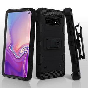 Storm Tank 3-in-1 Galaxy S10 Case Holster Combo - Black/Black - MyPhoneCase.com
