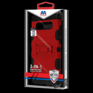 Storm Tank 3-in-1 Galaxy S10 Case Holster Combo - Red/Black - MyPhoneCase.com