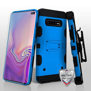 Storm Tank Galaxy S10+ Plus Case Holster - Blue/Black - MyPhoneCase.com